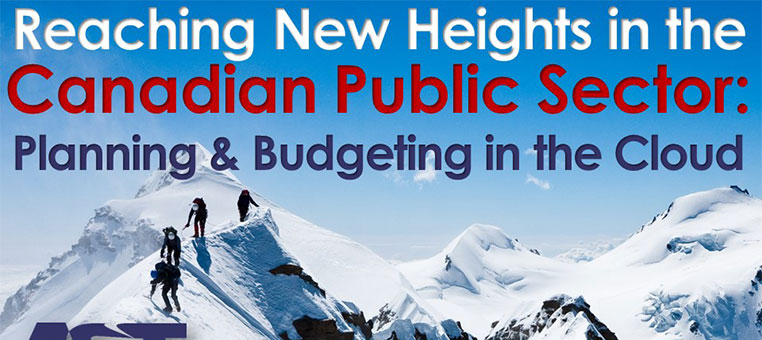 Reaching New Heights in the Canadian Public Sector: Planning and Budgeting in the Cloud
